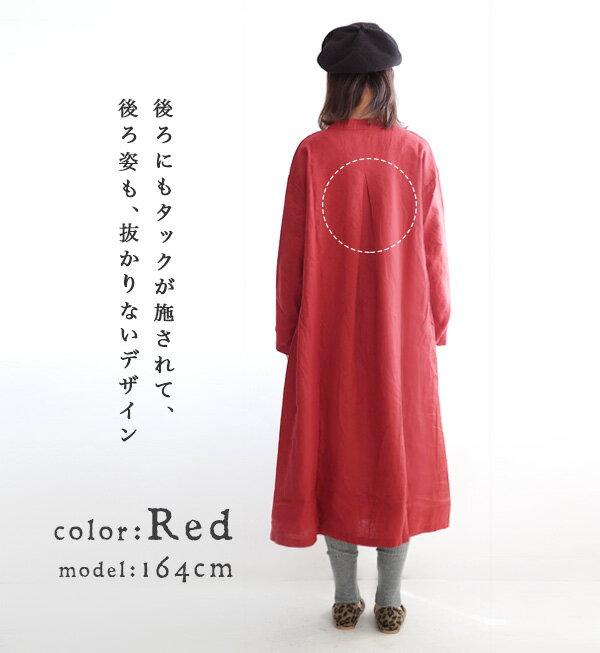 日本e-zakka / 簡約素色長款連衣裙 / 32593-1800579 / 日本必買 代購 / 日本樂天直送(8300) 4