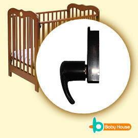 [ Baby House ] 愛兒房系列專用嬰兒床活動門欄/上方煙斗接片x1(黑色)【愛兒房生活館】