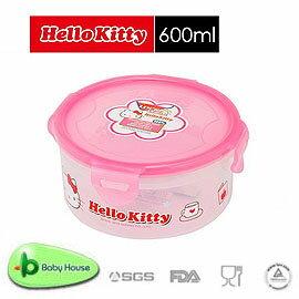 Baby House   HELLO KITTY PP 保鮮盒 600ML  圓型 ~