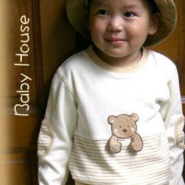 [ Baby House ] ◤純棉-台灣製◢ 可愛貼布純棉嬰兒上衣【愛兒房生活館】