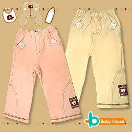 [ Baby House ] ◤純棉-台灣製◢ 純棉嬰兒寬口長褲【愛兒房生活館】