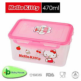 [ Baby House ] HELLO KITTY PP 保鮮盒 470ML【愛兒房生活館】