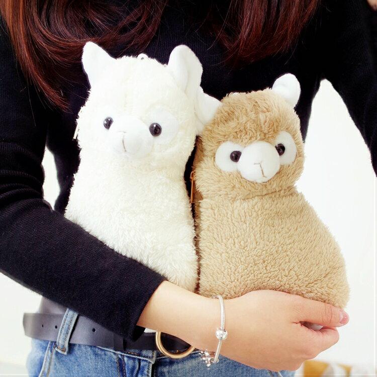 PGS7 日本卡通系列商品 - 毛毛 羊駝 羊咩咩 立體 筆袋 鉛筆盒 收納袋 收納包【SIE7203】