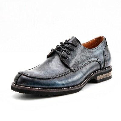 短靴真皮繫帶靴子-巴洛克雕花時尚商務男靴3色73kk60【獨家進口】【米蘭精品】