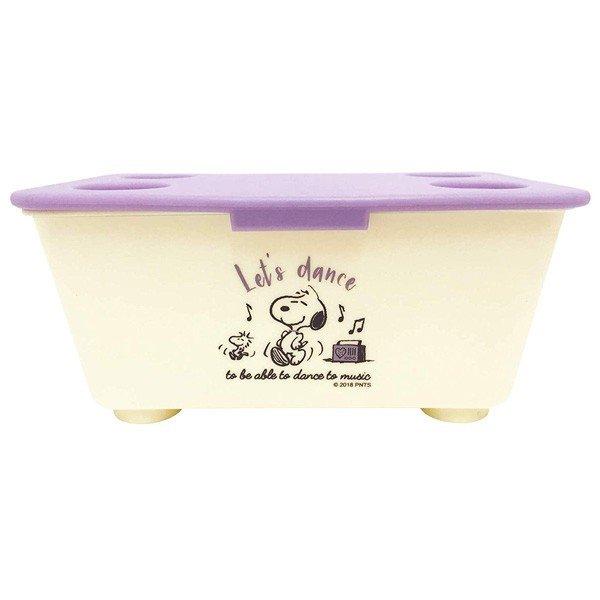 【真愛 】4548626088577 積木式迷你收納盒-SN紫白GAC 史努比snoopy 飾品盒 收納盒 收納罐 置物罐 儲物罐 桌上收納