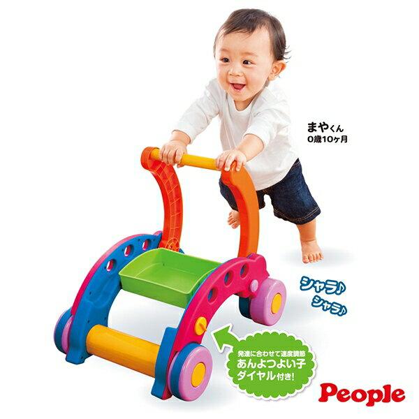 日本PEOPLE 新折疊式簡易學步車