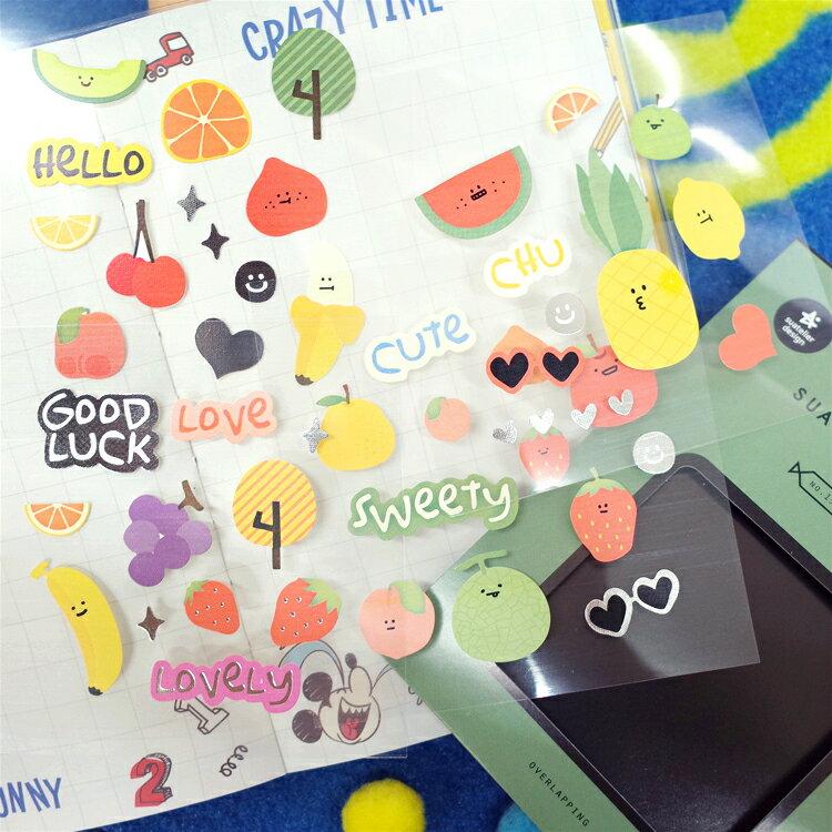 PGS7 拍立得 底片 裝飾 貼紙 - 韓國 綜合 蔬果 貼紙包 蔬菜 裝飾 卡片 日記 手帳本【SHT7342】