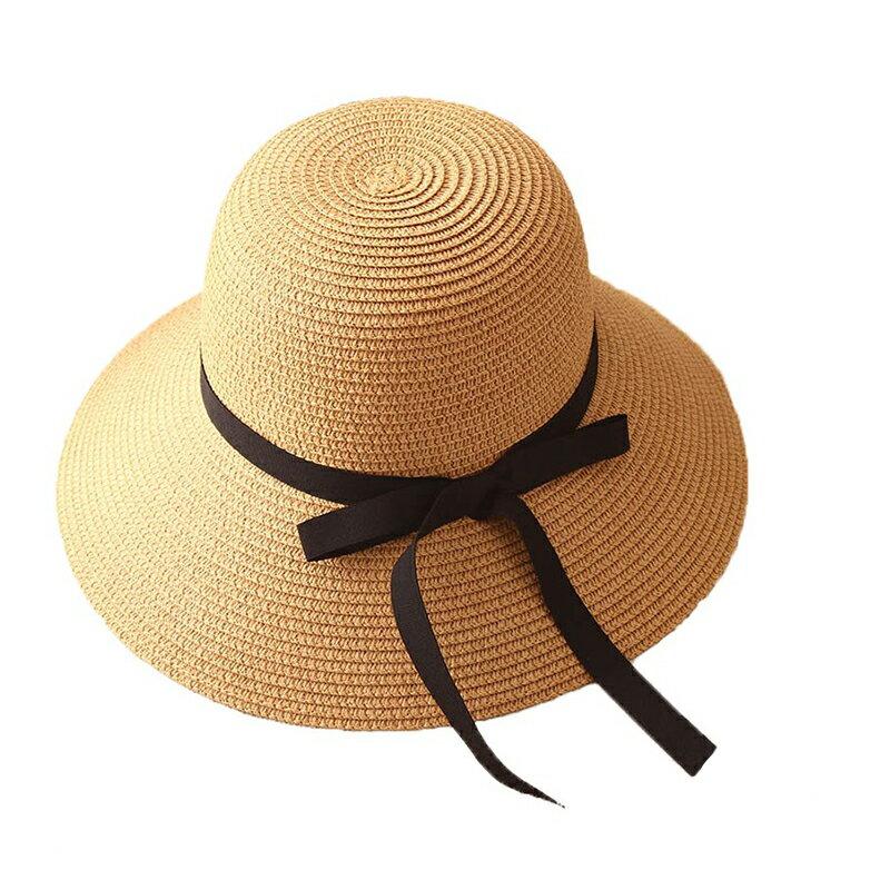 大帽簷圓頂草帽 沙灘草帽遮陽帽 遮陽防曬草帽 太陽帽草編帽 防紫外線2色【IB245】99750走走去旅行