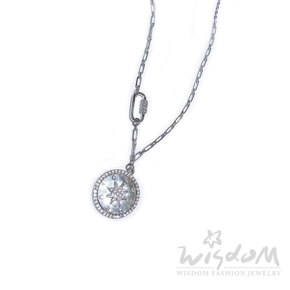 威世登時尚珠寶-羅盤銀小套鍊 禮物推薦 SB00321-ADGX
