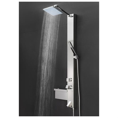 Shower Panel Tower Spa Multi Function Over Head Rainfall Style Head Tub Filler Faucet Wand AKSP0045 0