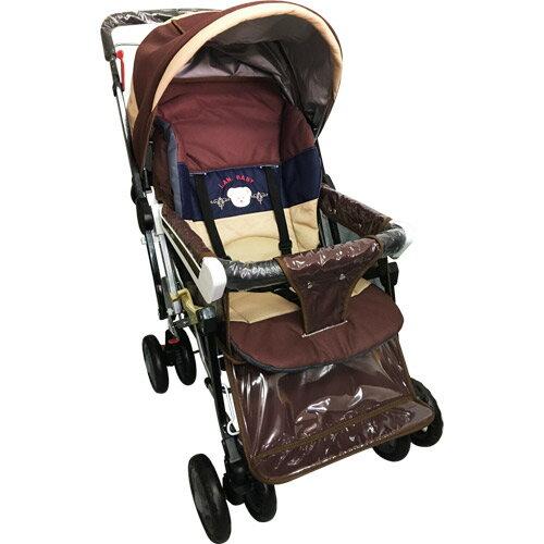 【奇買親子購物網】IANBABY9998(889)豪華加寬超大型嬰兒手推車鋁合金台灣製(橘色咖啡色)