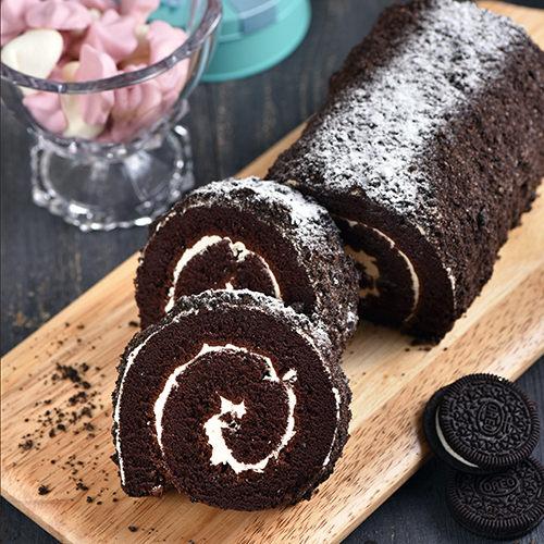 奧利奧巧克力蛋糕捲★小朋友最愛【布里王子】