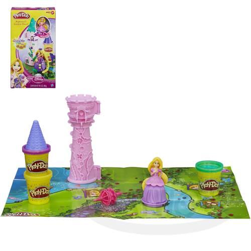 【Playwoods】[培樂多黏土PLAYDOH]迪士尼長髮公主城塔遊戲組Rapunzel's Garden Tower(樂佩/魔髮奇緣/Tangled/迪士尼公主系列/Disney/安全無毒/DIY/安全/幼兒玩具/益智/孩之寶Hasbro)