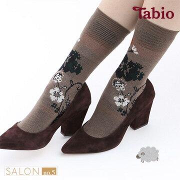 【靴下屋Tabio】古典緹花羊毛中筒短襪日本襪子第一品牌