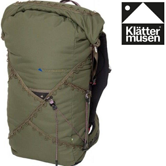 Klattermusen 攀山鼠/瑞典攀登鼠 Arvaker 40L 登山背包 KM40042U 軍綠