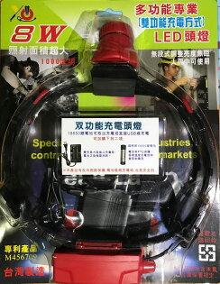 全防水頭燈調光變焦8WLED硬帶頭燈18650頭燈潛水頭燈防水頭燈L2頭燈