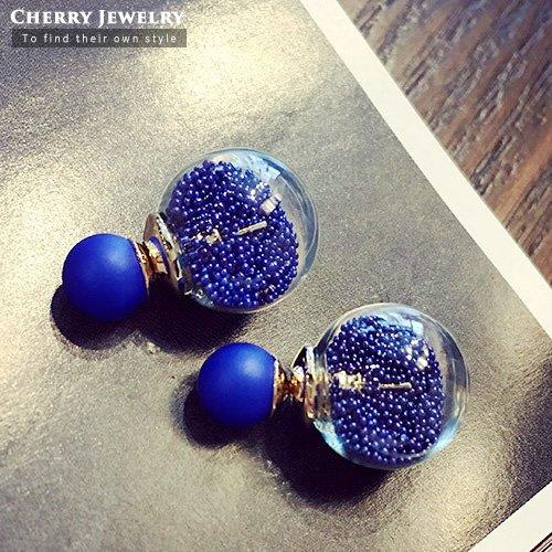 許願沙球造型耳環20230【櫻桃飾品】【20230】