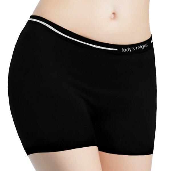 【MIGER密格內衣】無縫基本平口褲(加長版)-台灣製-(編號:SI-06A)
