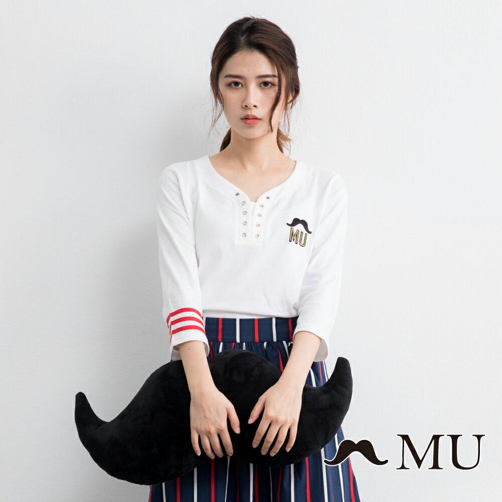 【MU】MU印花打孔上衣(2色)9321261 1