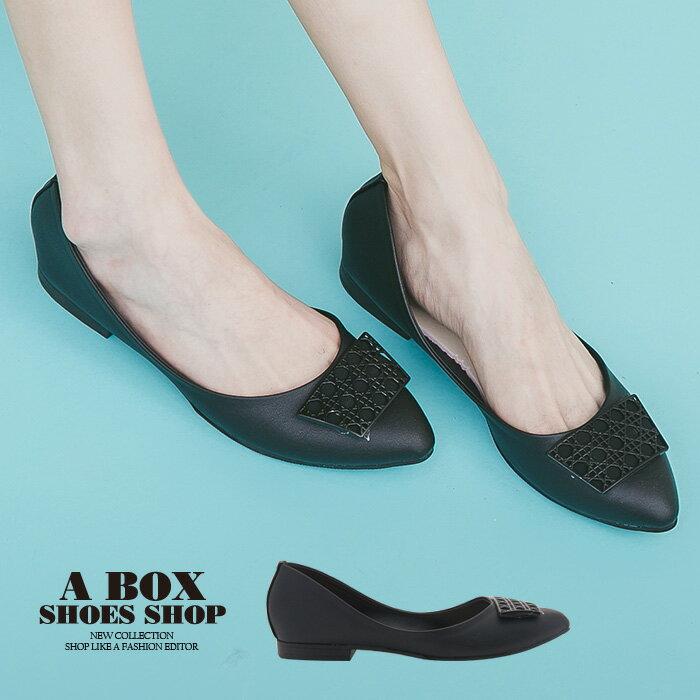 【AN1692】1.5CM低粗跟 尖頭包鞋 娃娃鞋 素面皮革材質 MIT台灣製 2色