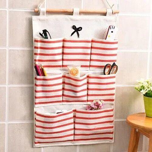 門后懸掛式墻壁掛兜收納袋墻掛式收納掛袋掛墻上儲物袋宿舍雜物袋