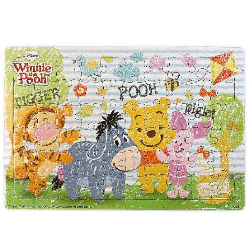 迪士尼 小熊維尼拼圖 60片拼圖 QID17 / 一個入(促110) Disney Winnie the Pooh 跳跳虎 屹耳 小豬 幼兒卡通拼圖 正版授權 MIT製 1