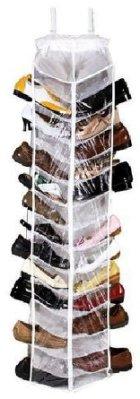 超大容量 30雙鞋收納吊掛鞋袋 鞋架 鞋袋 鞋盒 收納箱 收納袋 ☆真愛香水★