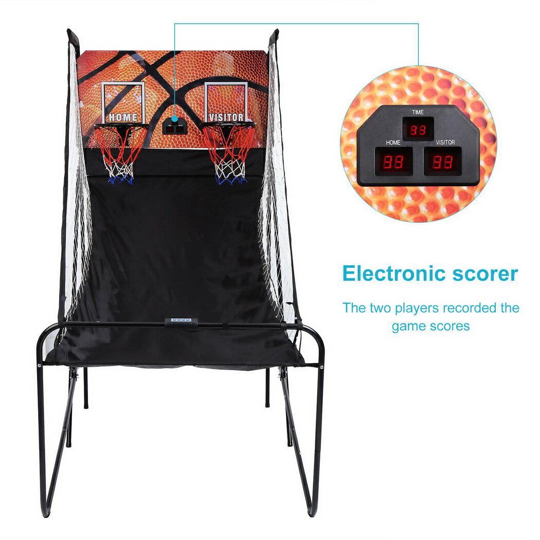 Basketball Double Shot Arcade System Foldable 2