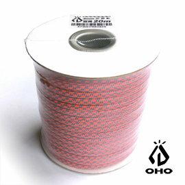 ^~ OHO ^~ 多 耐候4mm營繩 灰螢光粉紅 20m  Polyester  GR4