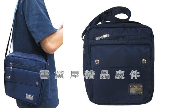 ~雪黛屋~Cougar肩側包小容量二層主袋口可8寸平板進口水尼龍布材質肩背斜側外出休閒隨身物品NCG7120