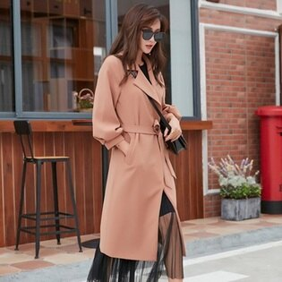 風衣外套長版大衣-簡約純色時尚風格女外套2色73to50【獨家進口】【米蘭精品】