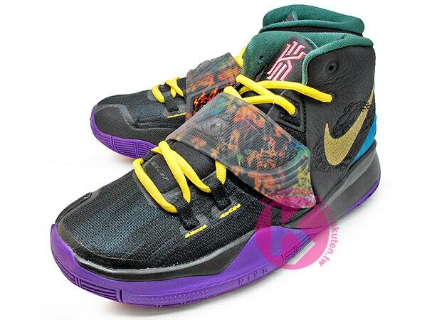 2020 Kyrie Irving 最新代言鞋款 NIKE KYRIE 6 VI GS CNY 大童鞋 女鞋 黑紫黃 農曆新年 歐文 籃球鞋 (CQ5820-001) 0120 1