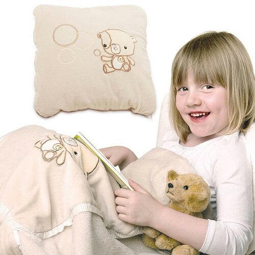ClevaMama小熊枕頭毯(枕頭+毯子兩用)【悅兒園婦幼生活館】