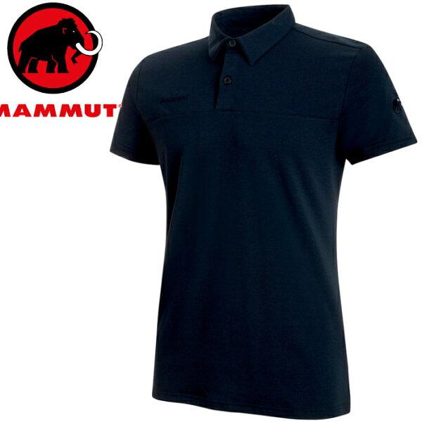 Mammut長毛象POLO衫排汗衣休閒上衣短袖polo衫TrovatTour男款1017-000305118海洋藍