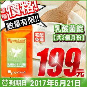 乳酸菌錠 【推薦約3個月份】日本進口保健食品 寡糖  到期日:2017.05.21