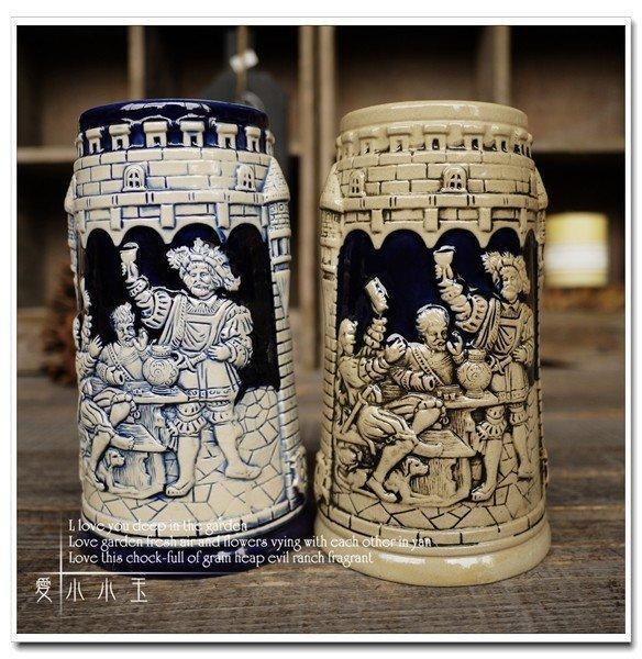 【城堡中的歡聚】酒吧專用陶瓷啤酒杯創意結婚禮物2個組