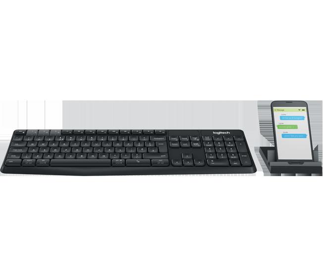 [富廉網] 羅技 Logitech K375s 中文藍牙&無線雙介面鍵盤 附手機支架 - 限時優惠好康折扣