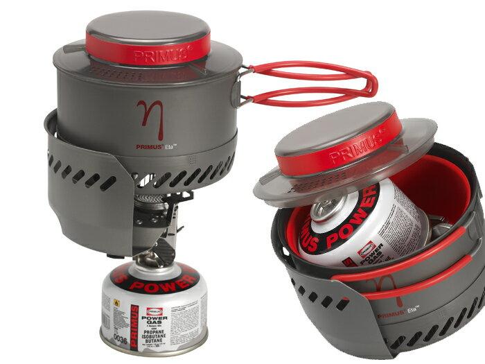 【露營趣】送高山瓦斯 瑞典 Primus 353094(353093) Eta Express 1~2人 快速瓦斯鍋爐組 強效鍋 登山露營野炊
