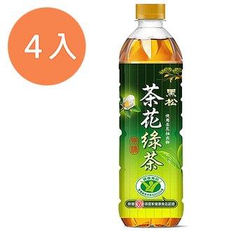 黑松 茶花綠茶 無糖 580ml (4入)/組