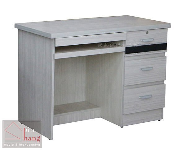 【尚品傢俱】736-30 吉拉 雪衫白3.5尺電腦桌/書桌/辦公桌/工作桌/事務桌/人事桌
