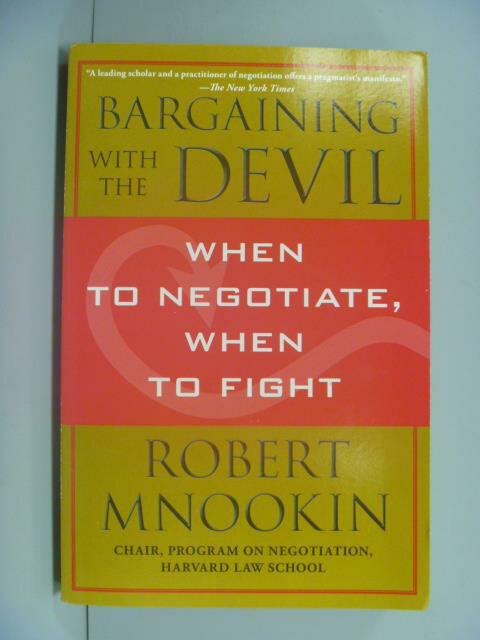 【書寶二手書T1/溝通_NGK】Bargaining with the Devil_Robert Mnookin