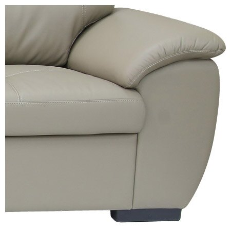 ◎(OUTLET)半皮右躺椅L型沙發 CAPUCCINO LC BE 福利品 NITORI宜得利家居 4