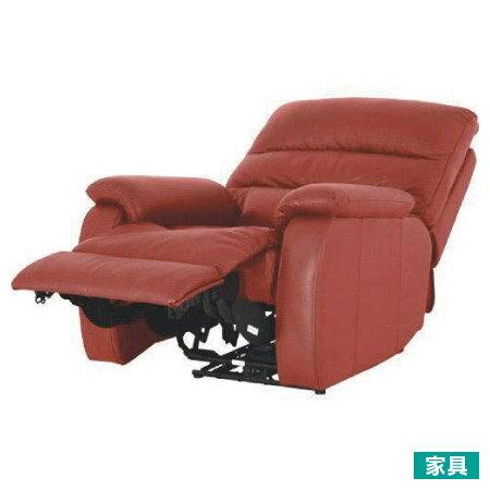 ◎全皮1人用頂級電動可躺沙發 BELIEVER2 RED NITORI宜得利家居