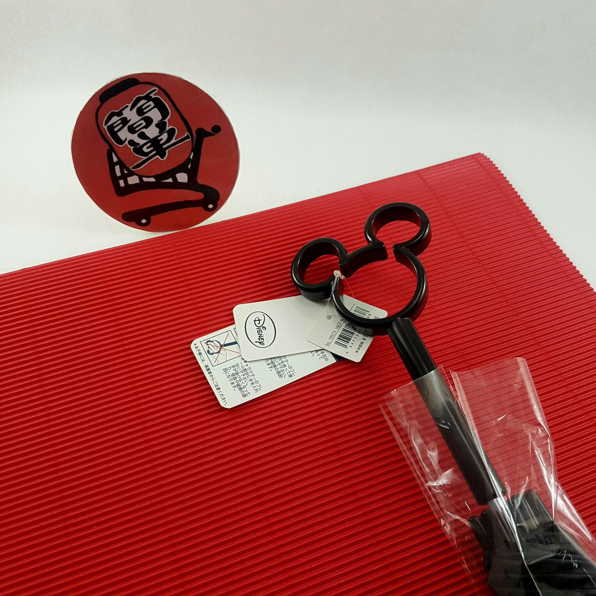 『簡?全球購』黑柄滿版米奇款 日本 迪士尼 米奇鏤空造型把手 透明直傘 雨傘