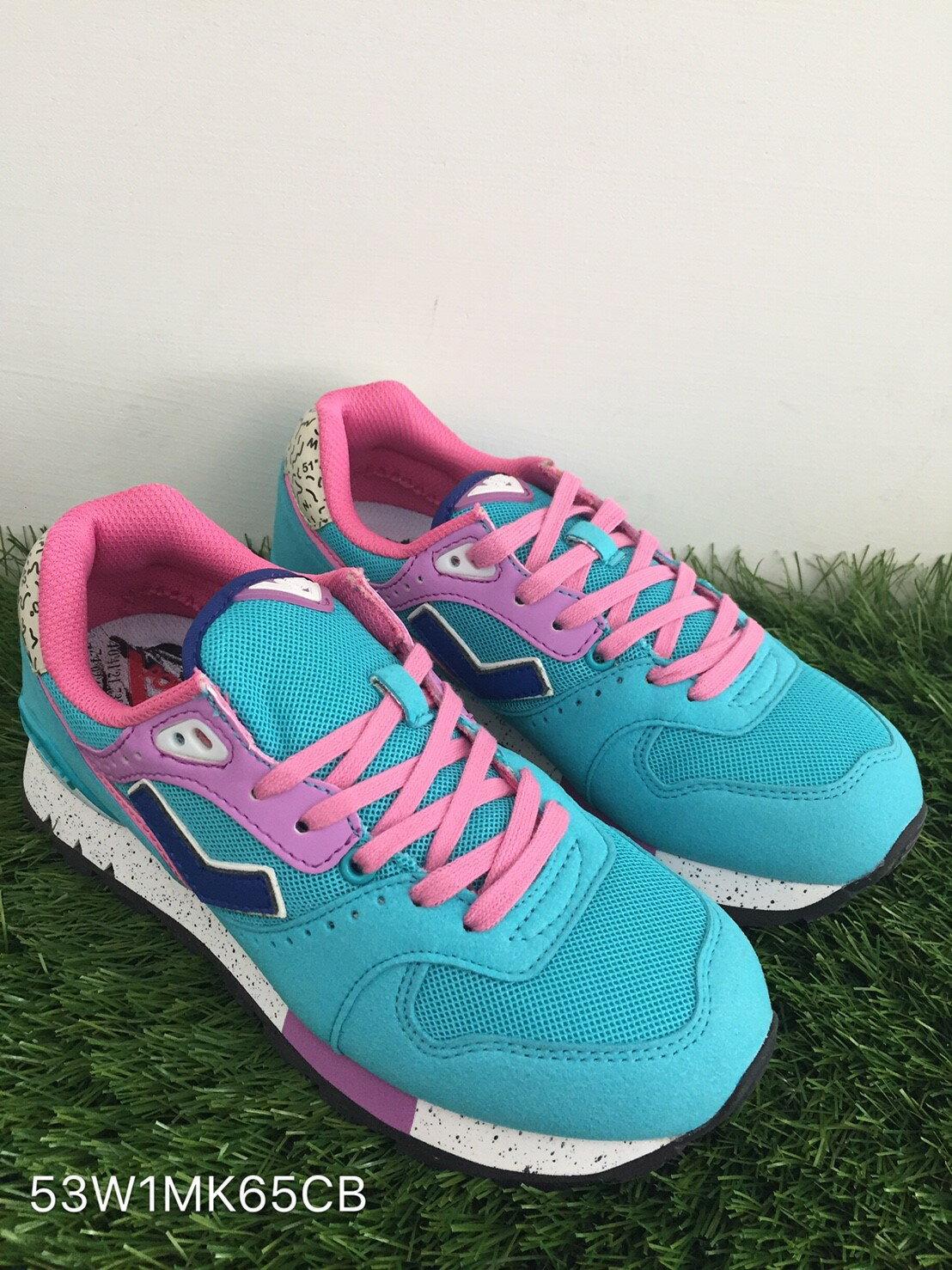 ★限時特價990元★ Shoestw【53W1MK65CB】PONY 復古慢跑鞋 內增高 水藍粉色 女生 0