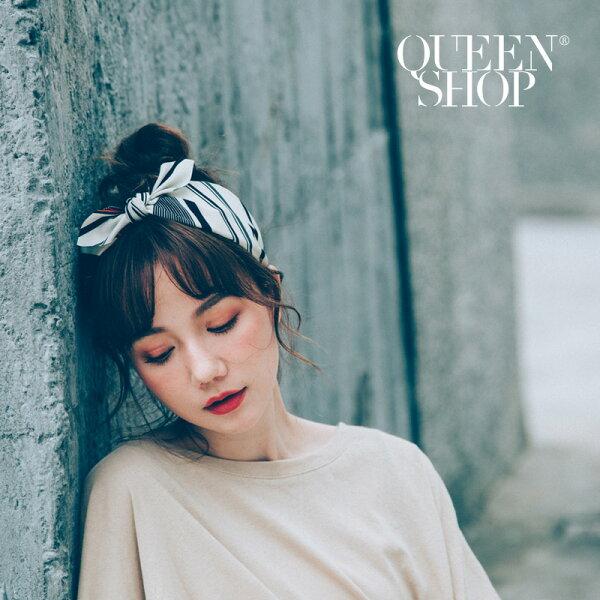 QueenShop【07090195】復古線條綁結造型髮箍兩色售*預購*