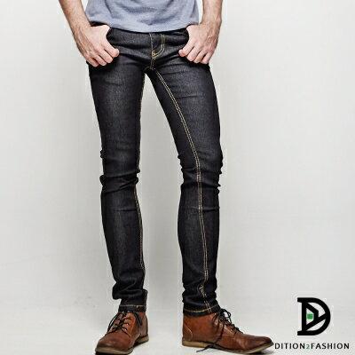 DITION 韓系丹寧SKINNY原色牛仔長褲 復古極窄版 1