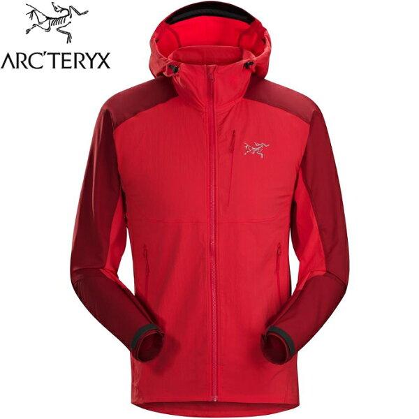 Arcteryx始祖鳥軟殼外套輕軟殼防風連帽夾克機能外套登山健行旅遊PsiphonFL男款22388鬥牛士紅