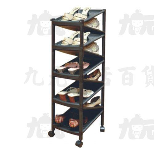 【九元生活百貨】聯府A-2009Z型九層雙面鞋架(附輪)置物A2009
