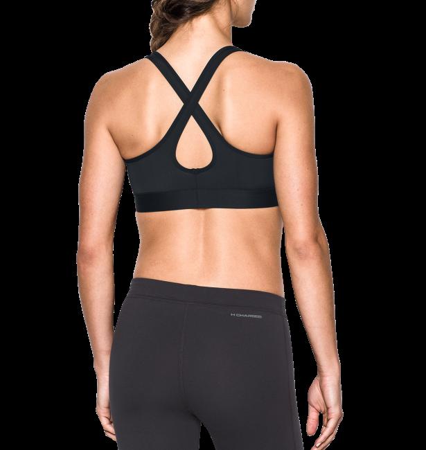 《UA出清一件699》Shoestw【1276503-001】UNDER ARMOUR UA服飾 Crossback 運動內衣 緊身 強力彈性型 中強度 黑色 女生 1